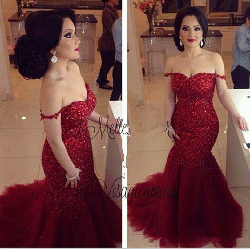 Mermaid Evening Dresses Shinny Pageant Dress Formal Sweetheart Neck Plus Size Lace Up Back Long Tulle Formal Prom Gowns Formal Occasion