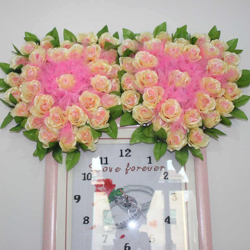 2018 wedding wedding car decoration wedding room home decorating 2018 wedding wedding car decoration wedding room home decorating artificial flowers silk flower arrangement korean new flower scarf heart podium from tang3 junglespirit Image collections