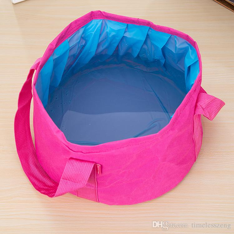 Best Sale Outdoor Foldable Basin And Cloth Bag Camping Basin Sink Washing Bag Camping Water Pot Wash Bucket Bag ZD0047 Salebags