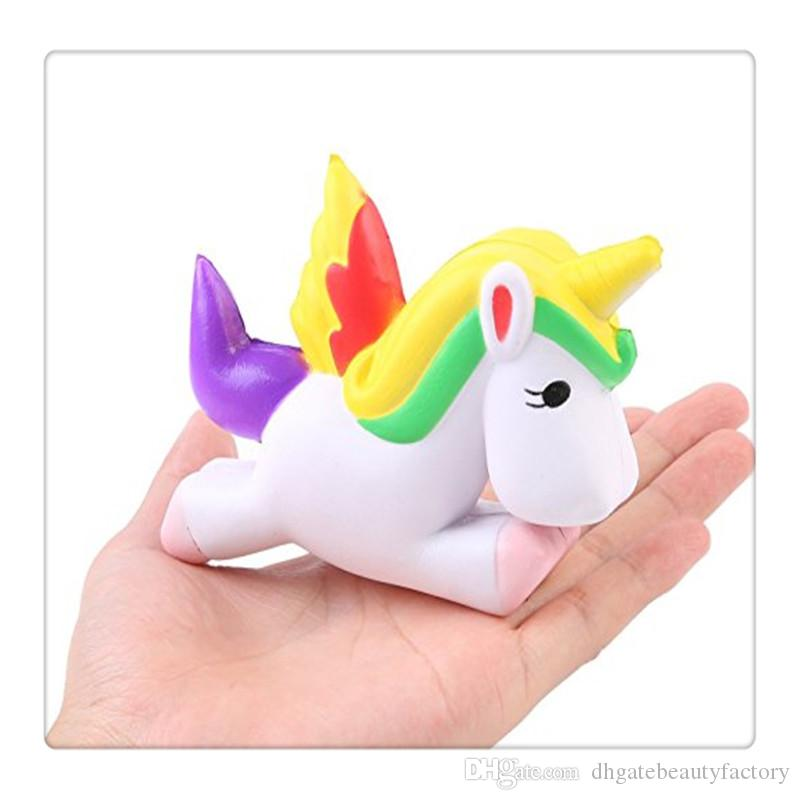 Wholesale Squishy Jumbo Unicorn Squishies Slow Rising Toys Phone Charm Straps Squishies Kids Toys Gift KeyChains