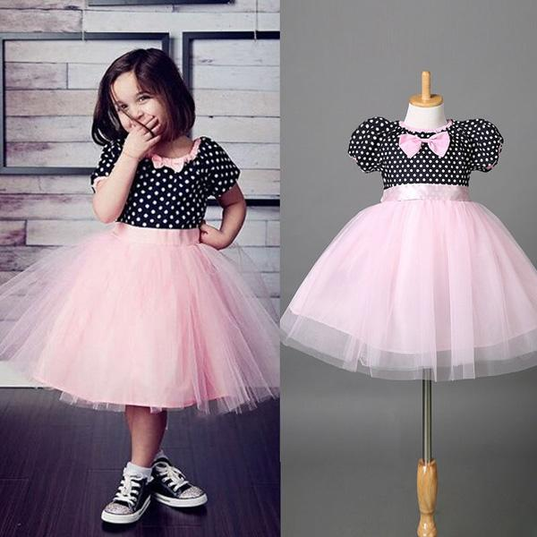 cda9e129612 2019 Retail 2016 Fashion Polka Dot Baby Dress Short Sleeve Pirncess Girls  Clothes Summer Bow Lace Children Party Dresses For Kids Girl Clothing From  ...