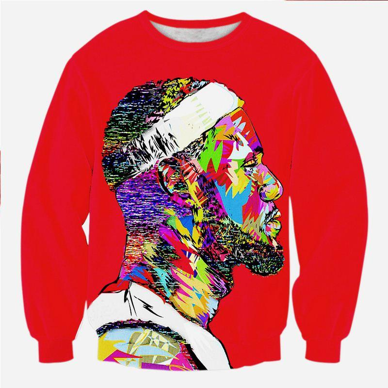 0399ed765e9c 2019 New Style 3d Sweatshirt LeBron James Graphic Artwork Tie Dye Graffiti  Printed Hoody Women Mens Crewneck Casual Pullover From Linmei0006