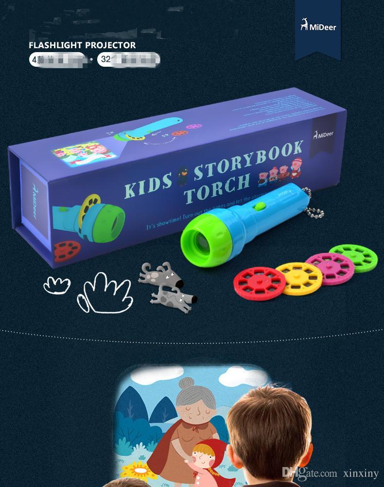 hot sale MiDeer Mia De children classic story projector toys luminous toys baby lighting flashlight toys