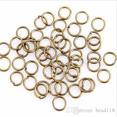 Heiß ! Sprungring, Biegeringe offene Anschlüsse plattiert Silber / Gold usw. 5mm