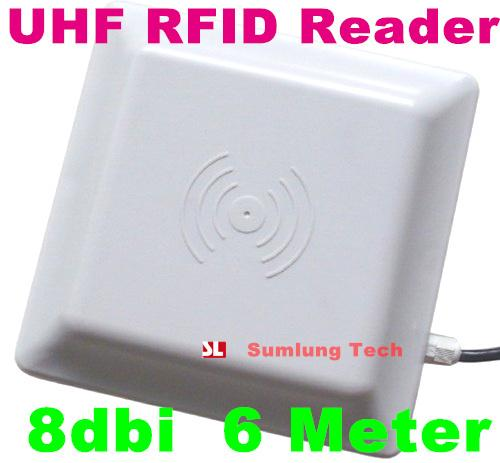 2019 UHF RFID Card Reader 6m Long Range, 8dbi Antenna RS232/RS485