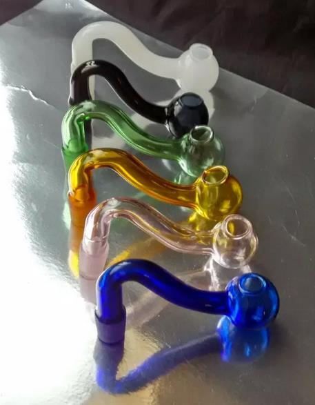 Groothandel gratis verzending --- S-gekleurde glazen pot, glazen waterpijp / glazen bong accessoires, kleuren om uit te kiezen