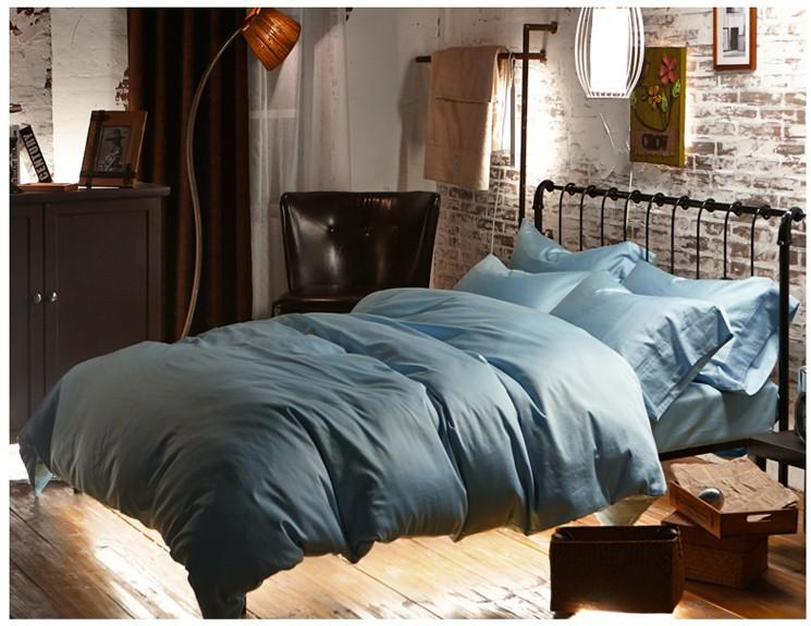 Luxury Light Blue Egyptian Cotton Bedding Sets Sheets Doona Queen