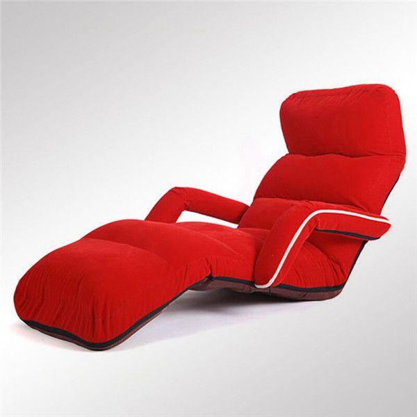 Comodo divano pieghevole da terra Poltrona da salotto Poltrona da soggiorno Moderno imbottito regolabile Lettino dormire Divano letto reclinabile