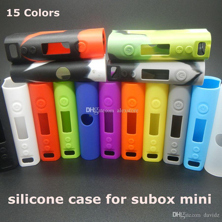 New Silicone Case Silicon Cases Bag Colorful Rubber Sleeve protective cover silica gel Skin For kanger kangertech subox mini 50watt box mod