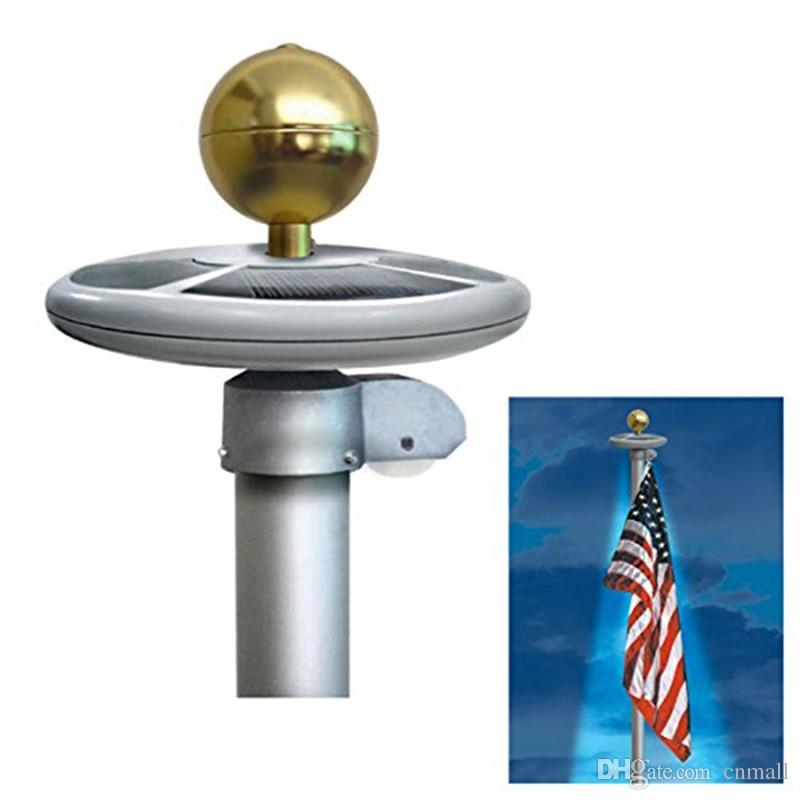 2018 20 Led Solar Powered Garden Decor Light Top Flag Pole Flagpoles  Landscape Lights Lamps Led Solar Powered Flag Pole Light From Cnmall,  $22.12 | Dhgate.