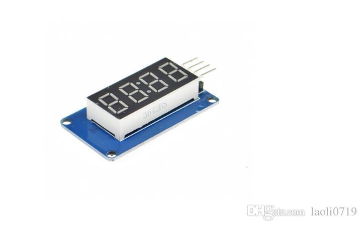 2 stücke TM1637 LED Display Modul 4 Bits 0,36 Zoll Uhr ROTE Anode Digital Rohr Serielle Treiberplatine