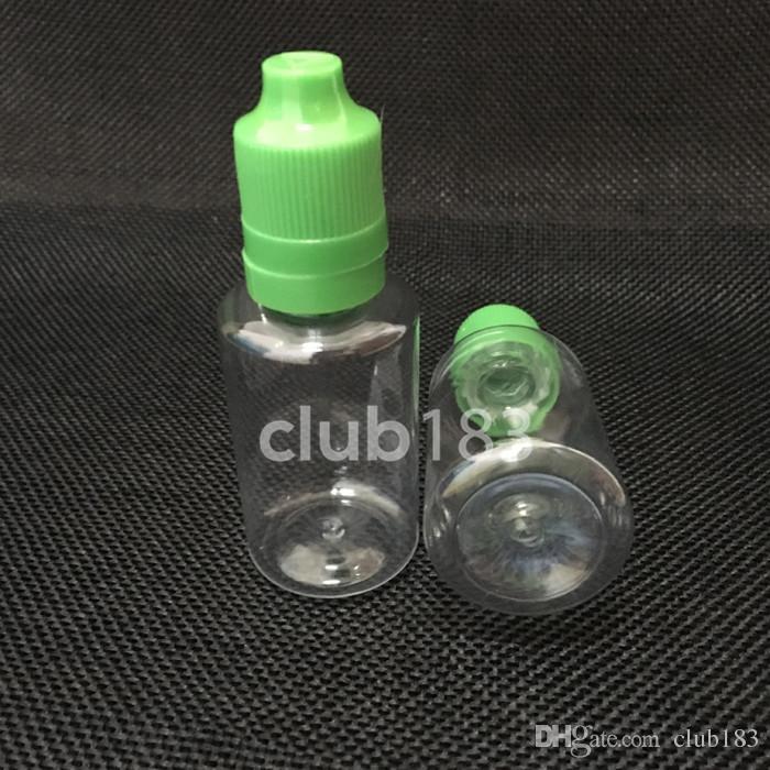 탬퍼 분명하고 childproof 컬러 캡 30ML 전자 액체 병 도매 병 전자 담배 애완 플라스틱 병 30ML PET 병