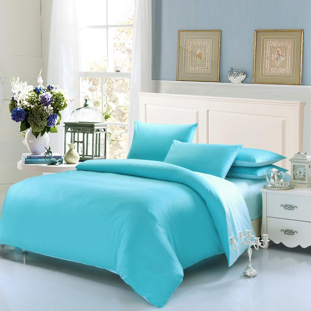 Plain Solid Color Cotton Bedding Sets Soft Warm Duvet Cover Bed Sheet Sets  Luxury King Queen Twin Size Marry Christmas Gifts Skyblue Black Duvet  Bedding ...