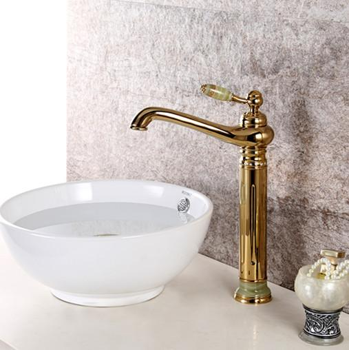 2018 Ti Pvd Finish Brass Bathroom Tall Vessel Sink Stone Crystal Faucet  Mixer Tap From Kavinxiaoyi, $184.92 | Dhgate.Com
