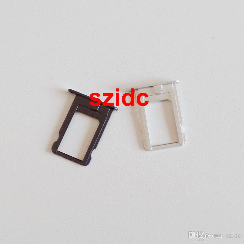 / Véritable Original Nouveau Sim Card Tray Slot Titulaire Pièces De Rechange Pour iPhone 5 Noir / Blanc En Gros