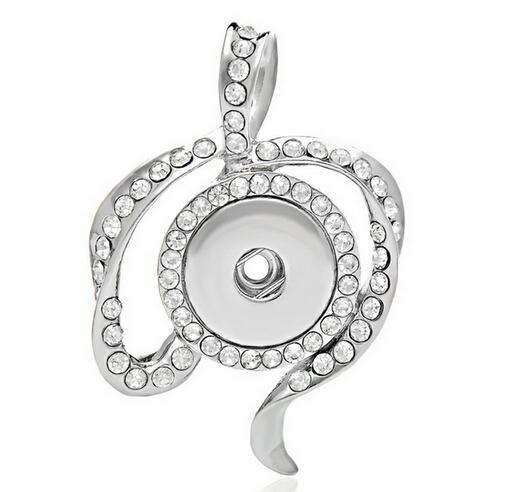 Design speciale pendente fit 18mm strass bianco Ciondolo tasto fai da te ciondoli gioielli fascino Noosa snap bottone interchargeble snap jelwery