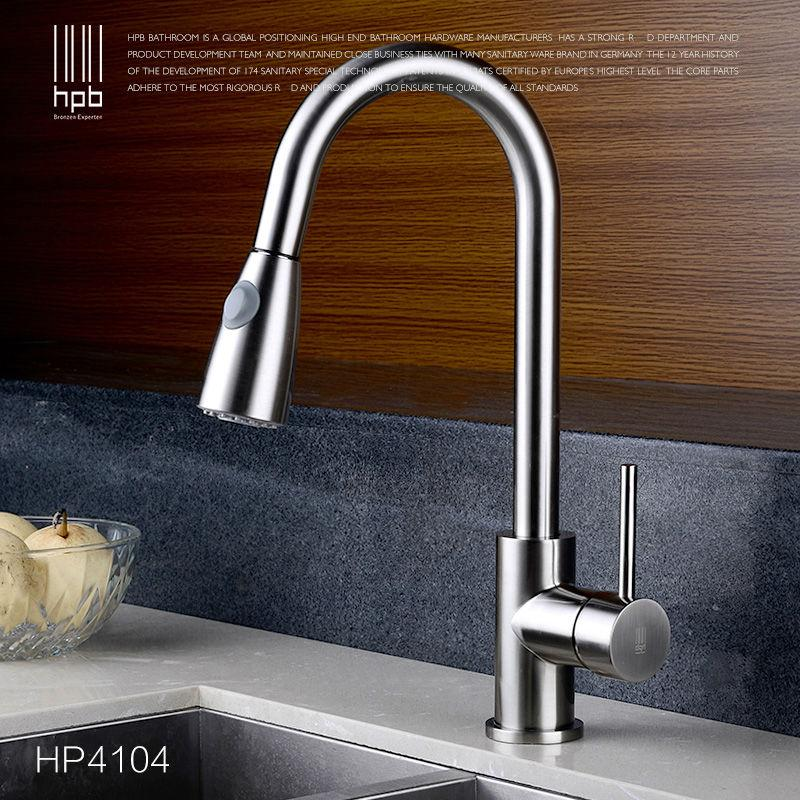 2018 Wholesale Hpb Brass Brushed Pull Out Spray Kitchen Faucet Mixer ...