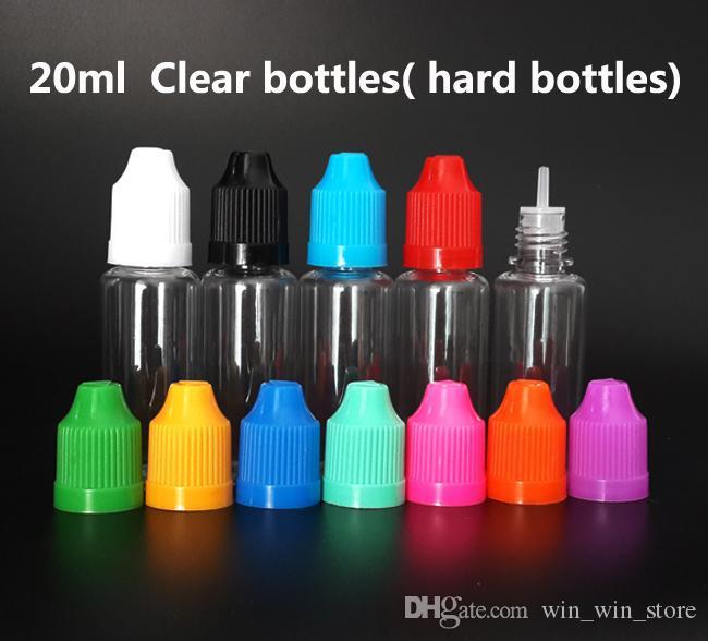저렴한 E- 액체 Vape 전자 주스 병 5ml 10ml 15ml 20ml 30ml 50ml 애완 동물 빈 플라스틱 Dropper 병 Childproof Caps 긴 좋은 팁