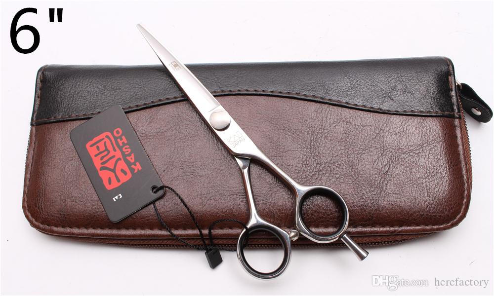 H1021 6Inch Japan 440C Laser Kasho Professional Human Hair Scissors Barbers' Hairdressing Scissors Cutting Thinning Shears Salon Style Tools
