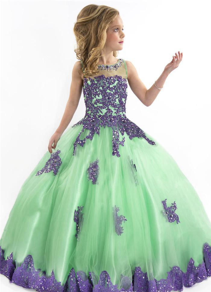 2015 Luxury Girls Pageant Dresses For Teens Floor Length Christmas ...