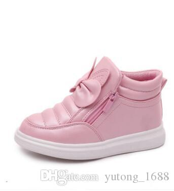 New Fashion Children Autumn Spring Winter Boots Cute Keep Warm Kids Girls Princess Boots Antislip Leather Girl Floral Boots