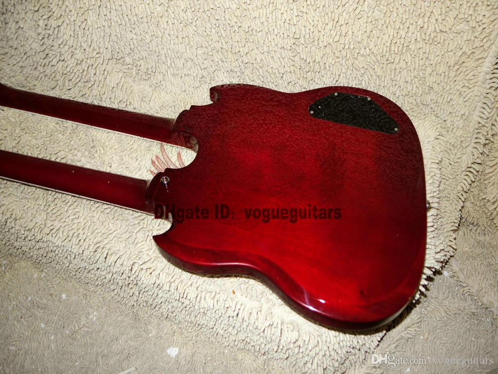 Custom 1275 Double Neck left handed guitar Double neck 6/12 strings 12 strings Electric Guitar in red