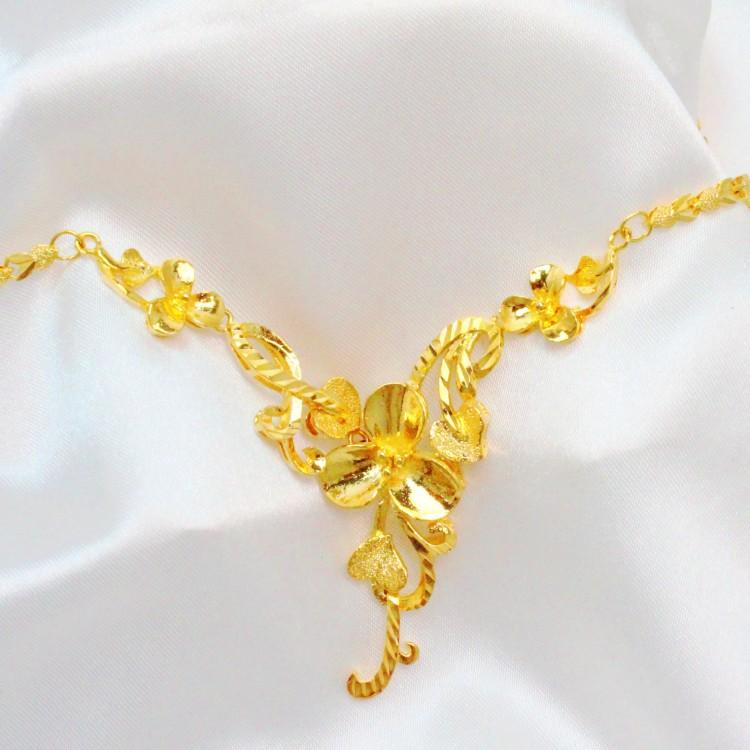 Bride wedding necklace gold plated jewelry chain with ms golden cheap bride wedding necklace gold plated jewelry chain with ms golden wedding bridal jewelry korean wild junglespirit Image collections