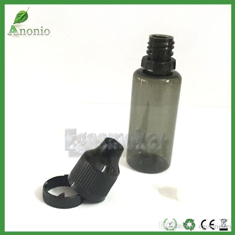 Fedex Tamperproof Bottles Black PET 5ml 10ml 15ml 20ml 30ml Plastic Dropper Bottles With Childproof Tamper Evident Cap