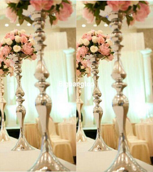 New Metal Electroplate Silver Mermaid Vase Table Centerpiece Candle ...