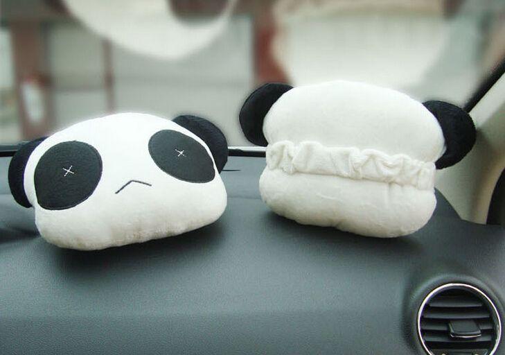 La nueva fábrica venta Directa linda panda reposacabezas reposacabezas coche suministros Jushi suministros =