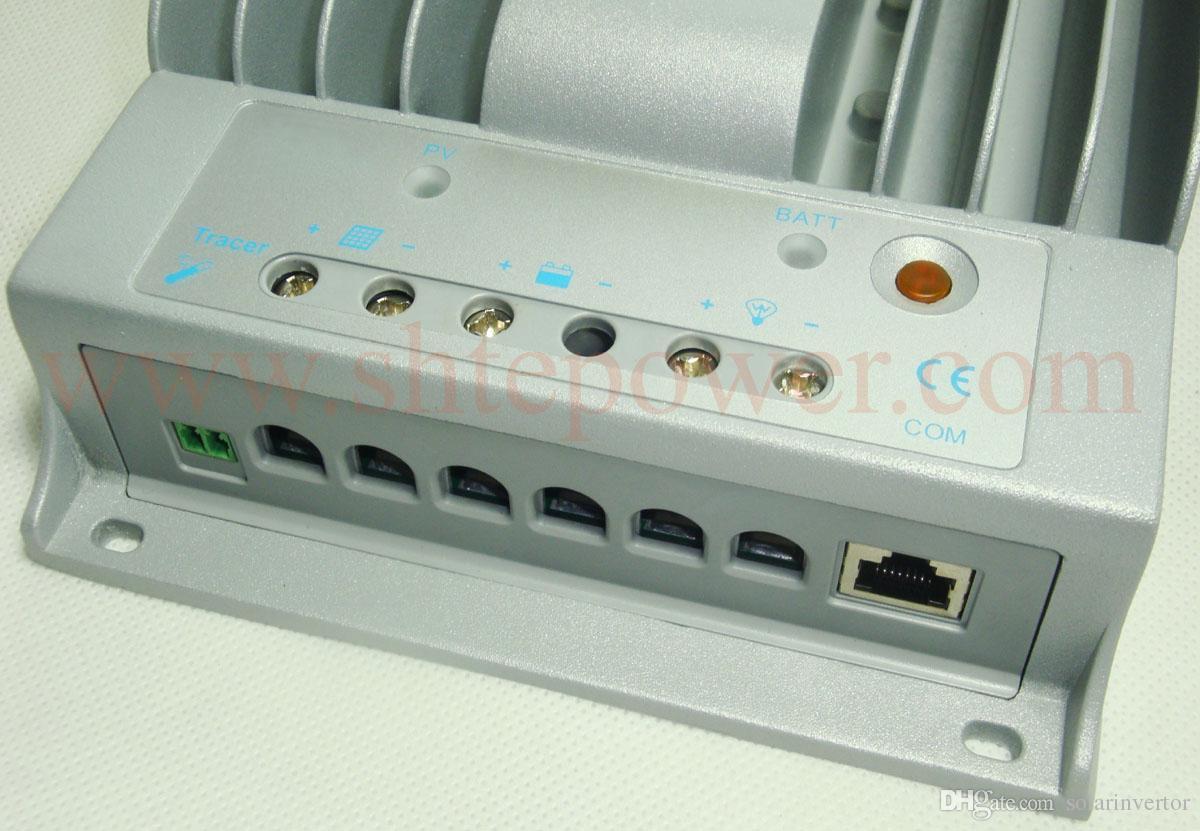 Алюминиевый корпус Макс PV вход 150V MPPT Control 10A Солнечный контроллер заряда 12V 24V с ЖК-дисплеем