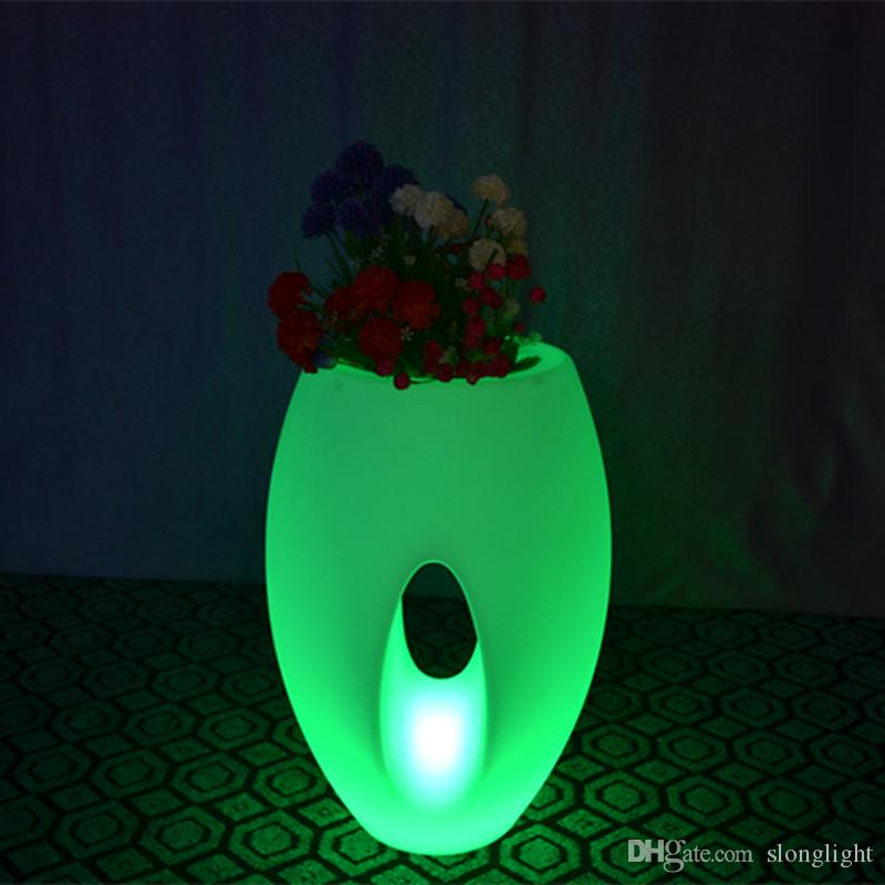 Outdoor/indoor waterproof 24Keys Remote control color changeable big luminous pots of led ice bucket for illuminated furniture
