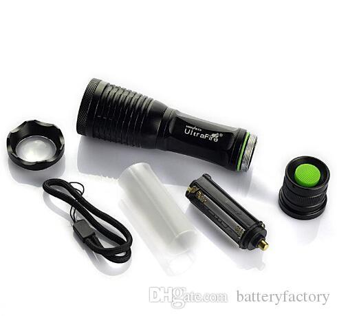Nueva llegada, 2000 Lumen 7 Modo E5 Zoomable CREE XM-L T6 LED Linterna Antorcha Zoom Luz de lámpara