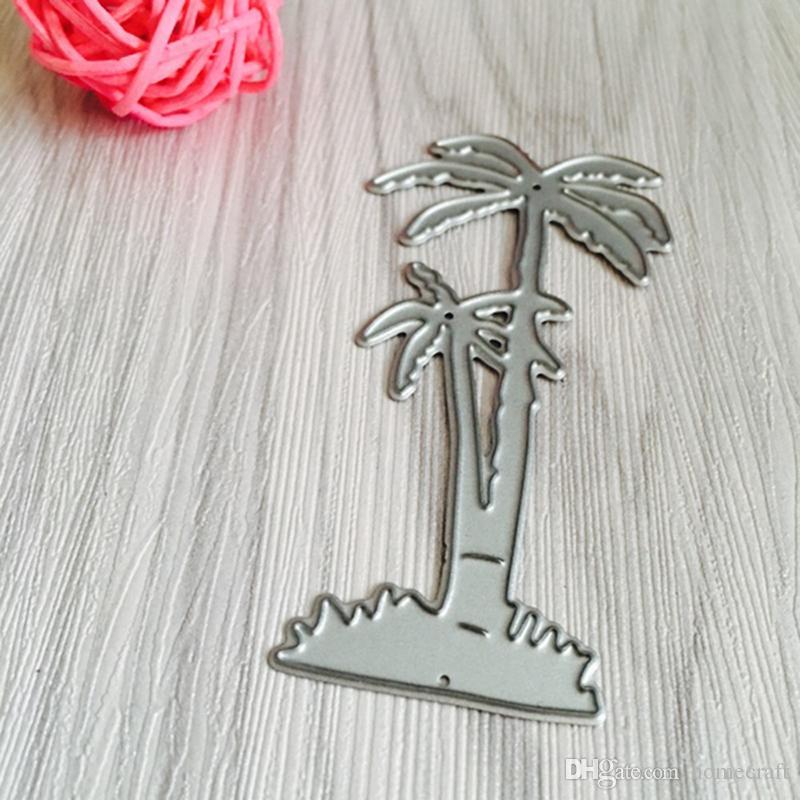 Beach Palm metallo Taglio Muore Stencil DIY Scrapbooking Photo Album Carta di carta Creazione Gift Decoration Folder