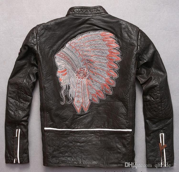 Indian Head Embroidery Back Marbobo Classic Motorcycle