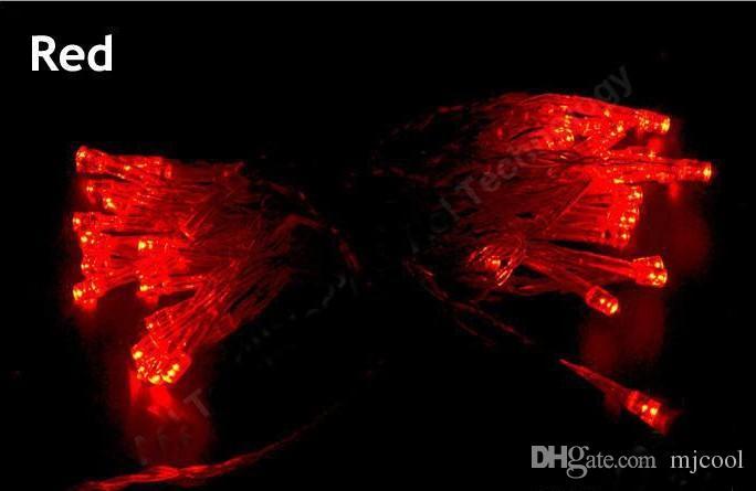 야외 실내 축제 문자열 조명 2m 20 LED 다채로운 LED 문자열 조명 배터리 크리스마스 문자열 결혼식 장식 를 운영