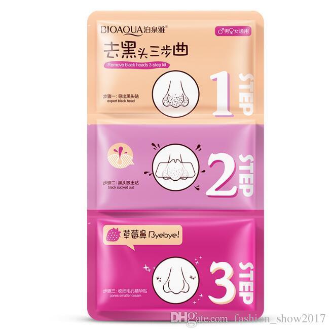 3 Adım Siyah Nokta Remover Kore Kozmetik Yüz Yüz Siyah Nokta Maske Akne Kömür Sac Maske Soyulabilir Burun Maskesi