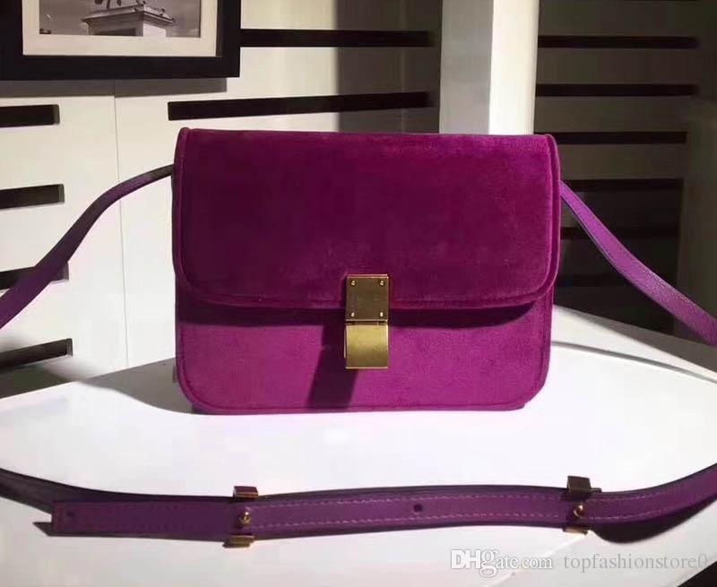 7e500691b0 Women Ce New Style Velvet Box Handbag, Genuine Leather Inside Small Flap  Cross Body Messenger Bag Ce02 Handbags Wholesale Purses For Sale From ...