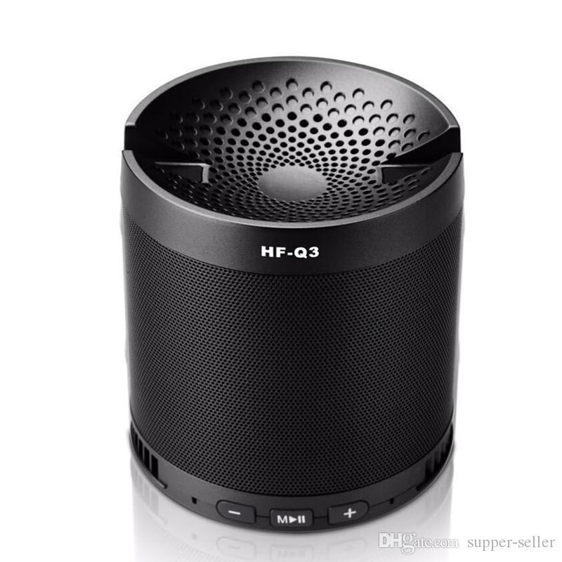 NEW HF-Q3 Multi functional Wireless Portable Mini Bluetooth Speaker Subwoofer Receiver with Mic For Phone support mobile phone Free DHL