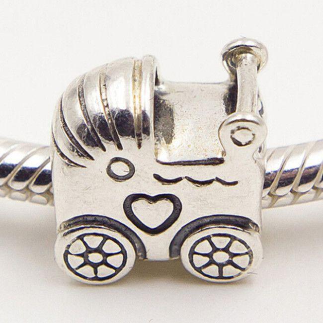 De alta qualidade 100% S925 Sterling Silver Charme Do Bebê Charme Talão Serve Para Pandora Europeu Jóias Pulseiras Colares Pingente