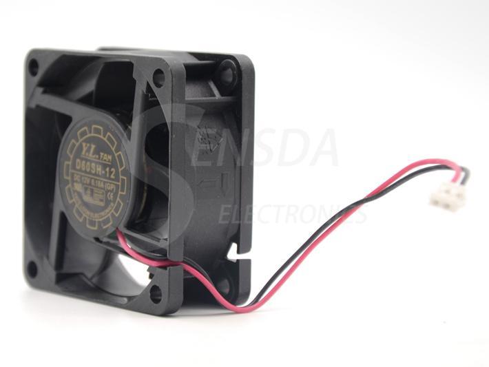 D60SH-12 Livraison Gratuite En Gros Yate Loon 6025 60 * 60 * 25 mm DC 12 V 0.18A 2 Wire De Refroidissement Ventilateur