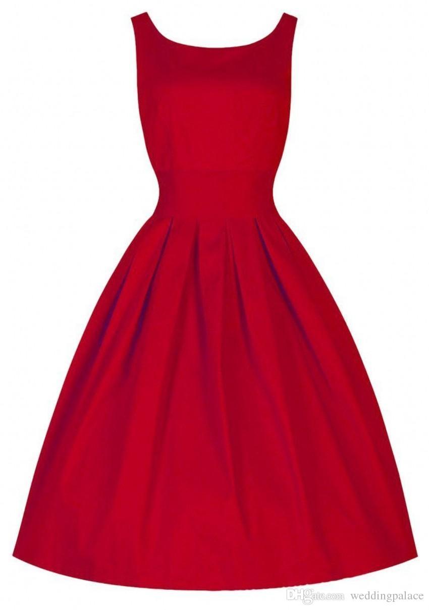 revisa 36b24 107ab Compre Años 50 Vestidos Retro Vintage Audrey Hepburn Retro 50s 60s Vestido  Swing Cóctel De Baile Vestidos De Fiesta A $56.39 Del Weddingpalace   ...