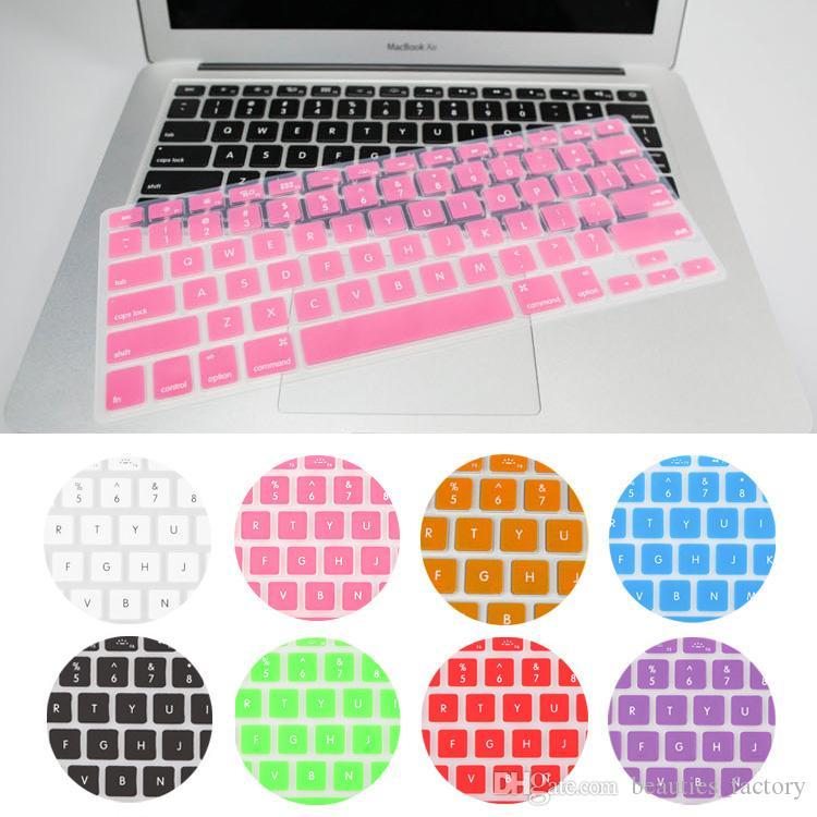 غطاء لوحة المفاتيح سيليكون الجلد حامي لأبل ماك بوك اير برو MAC 13inch / 15inch