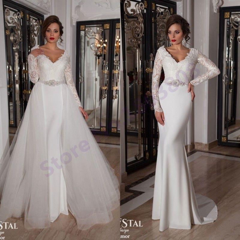 White Chiffon Mermaid Dress