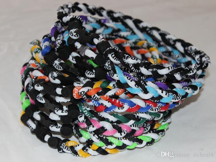 3 rope X45 titanium necklace twist necklace weaves necklace BASEBALL Necklace 48cm 50cm 55cm hot sell