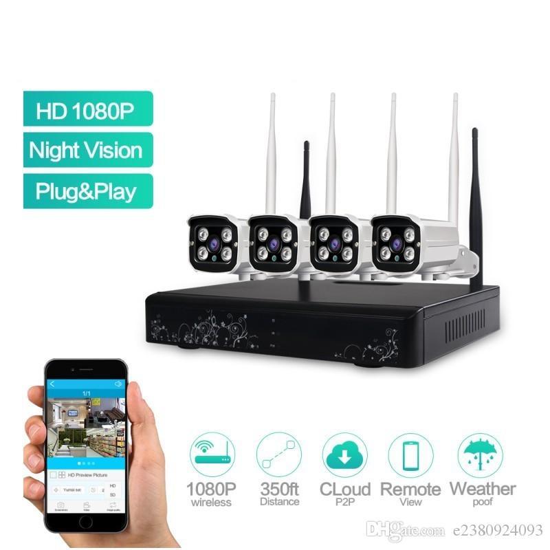 2018 Ls Wifi 4ch 1080p Hd Wireless Network Ip Security Camera ...