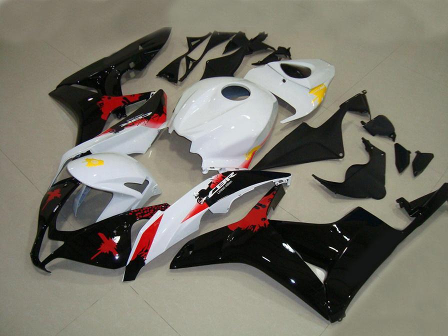Injection molding ABS fairing kit for HONDA CBR600RR 07 08 fairings set CBR 600 RR F5 2007 2008 white black red motobike LY66
