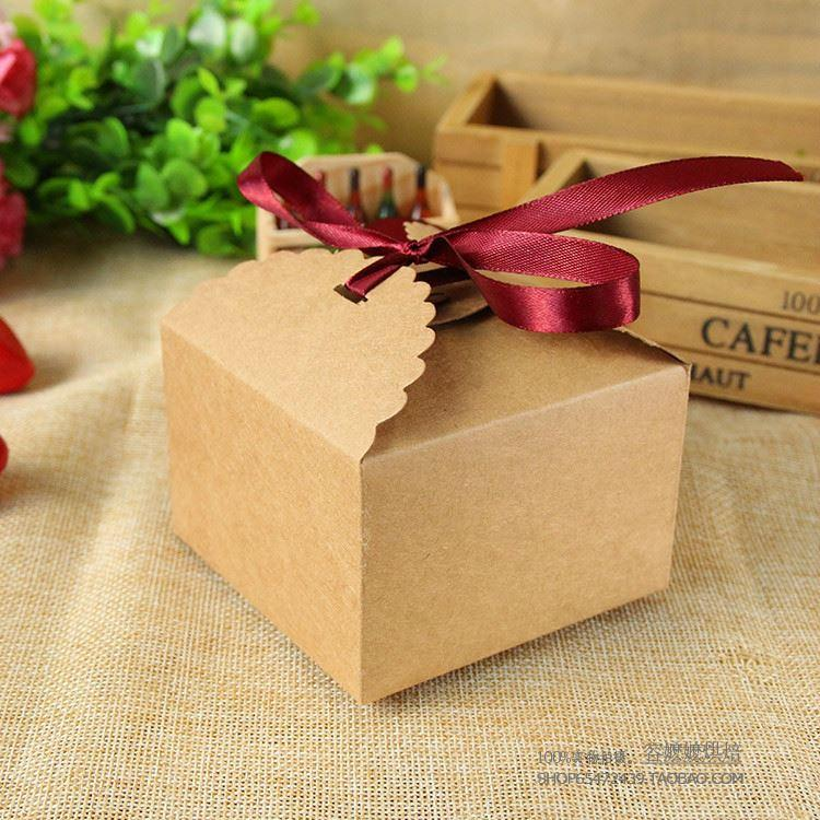 Small Square Paper Craft Box Chocolate Boxes Packaging For Gifting ...