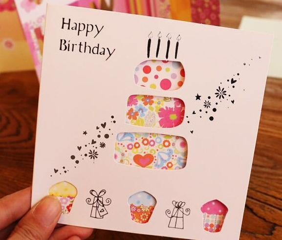 Wholesale Creative Hollow Out Birthday Greeting Card Blessing Card
