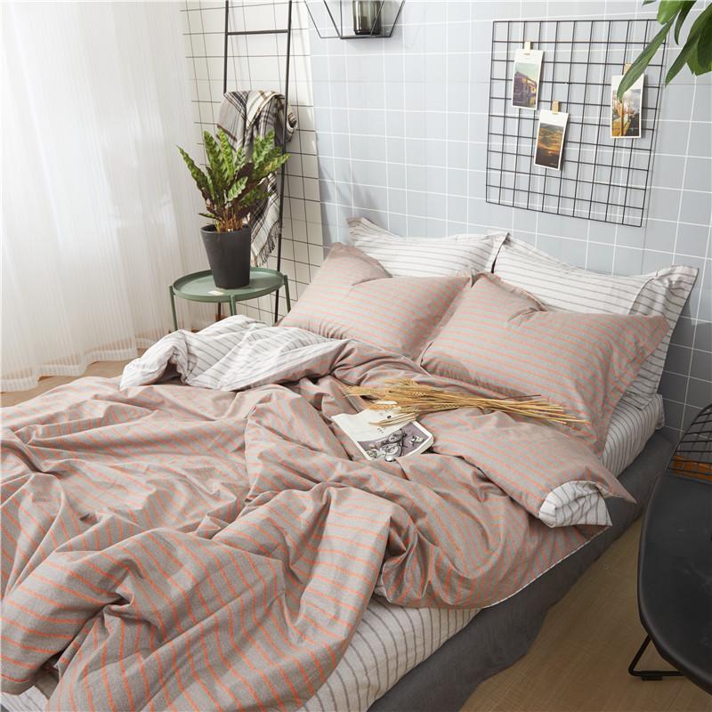 Europa diseños de tira del lecho del 100% algodón 40 * 40/133 * 70 de impresión reactiva hoja de cama ropa de cama cuatro piezas azul rojo reina siz2